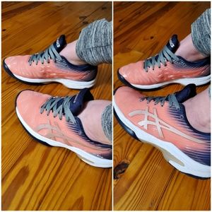 Rare Shiny Pink Asics Solution Speed FF Gel Shoes